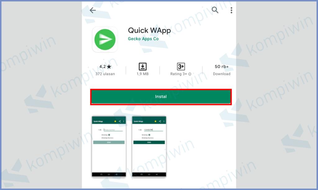 Install Aplikasi Quick WApp