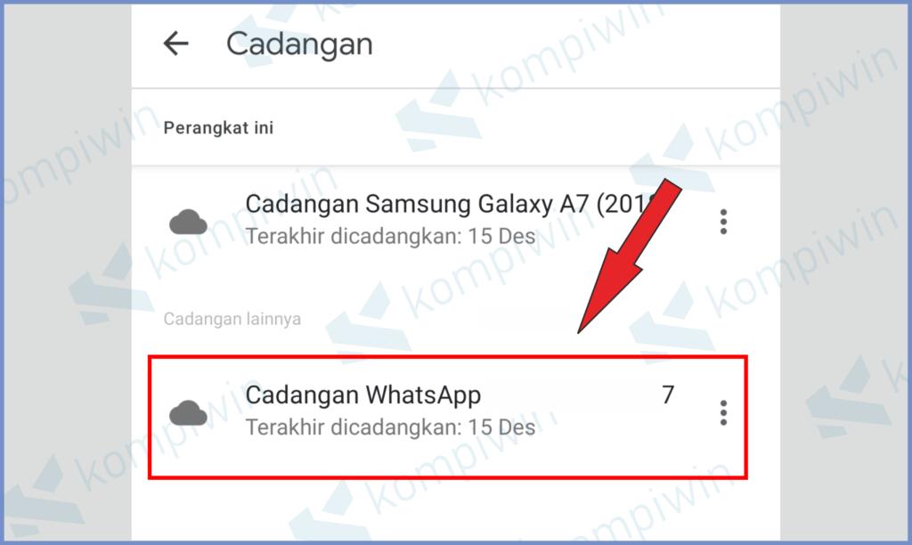 Ketuk Bagian Candangan Whatsapp