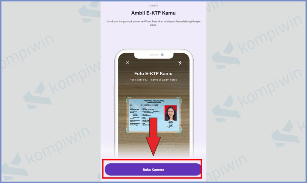 Ketuk Buka Kamera Untuk Verifikasi KTP
