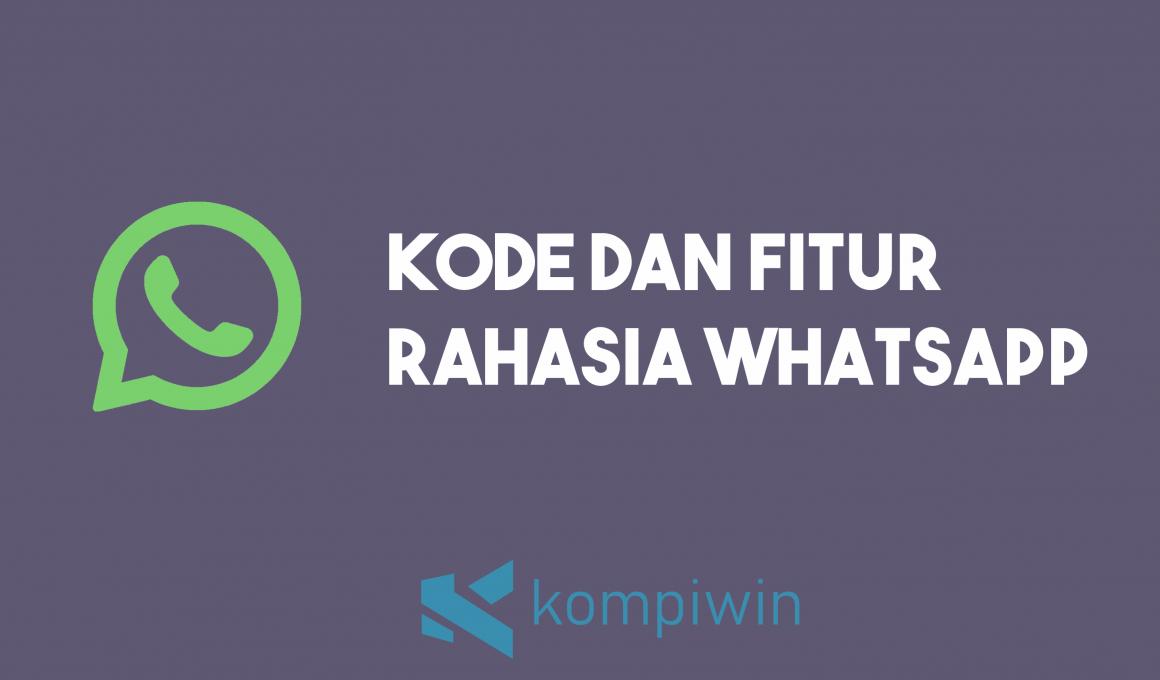 Kode Rahasia WhatsApp 1