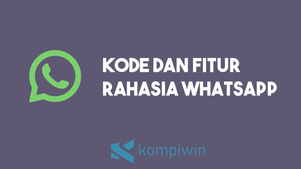 Kode Rahasia WhatsApp 6