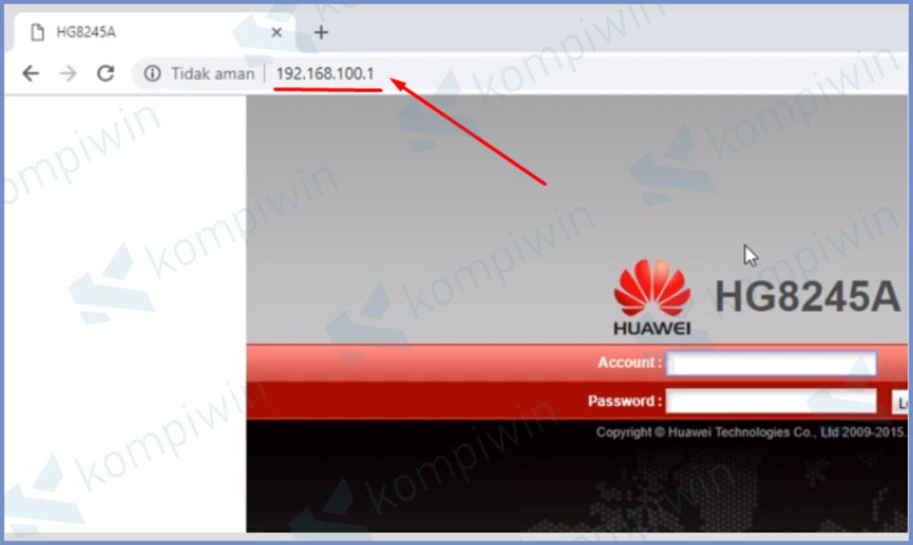 Masuk Ke IP Modem Huawei
