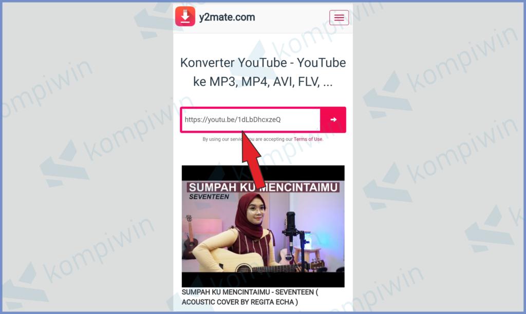 Masukkan Alamat Link Video Youtube Lalu Tekan Enter