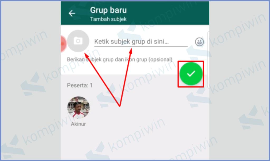 Masukkan Foto Profil dan Nama Grup, Setelah Itu Centang