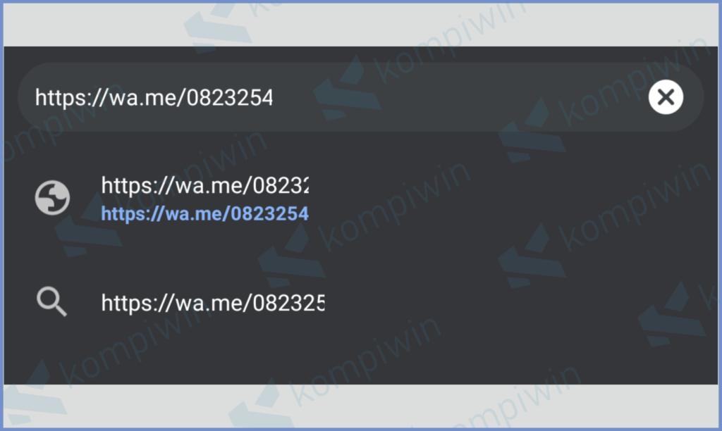 Masukkan Link Dengan Nomo WA