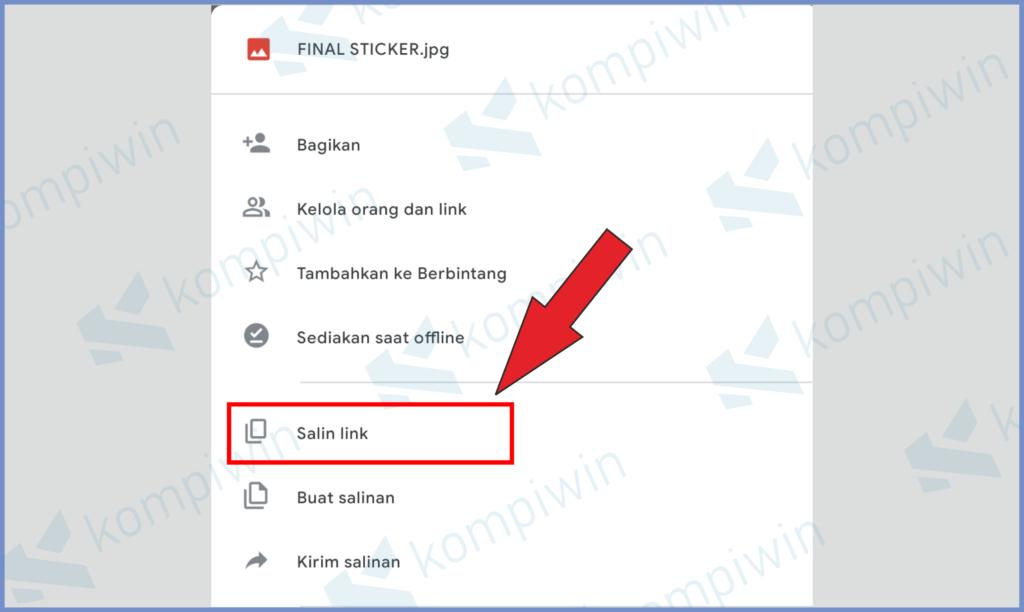 Pilih Salin Link Untuk Dibagikan Ke Chat