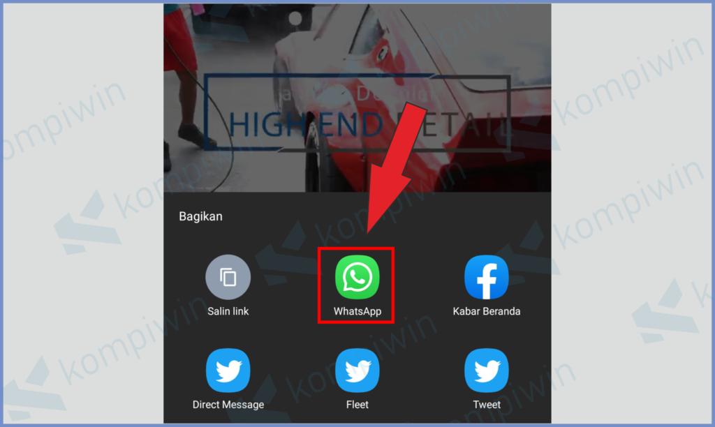 Share Menggunakan Whatsapp