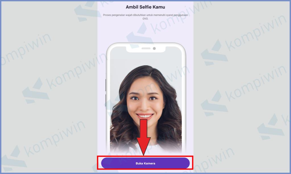 Tekan Tombol Buka Kamera Untuk Selfie