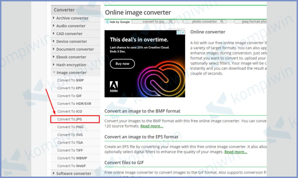 Tentukan Format File Yang Akan Dirubah