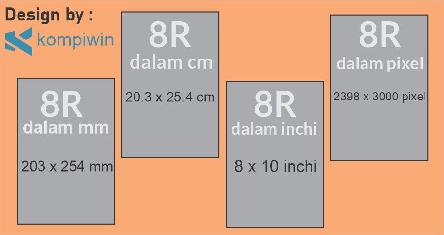 Ukuran Foto 8R 2