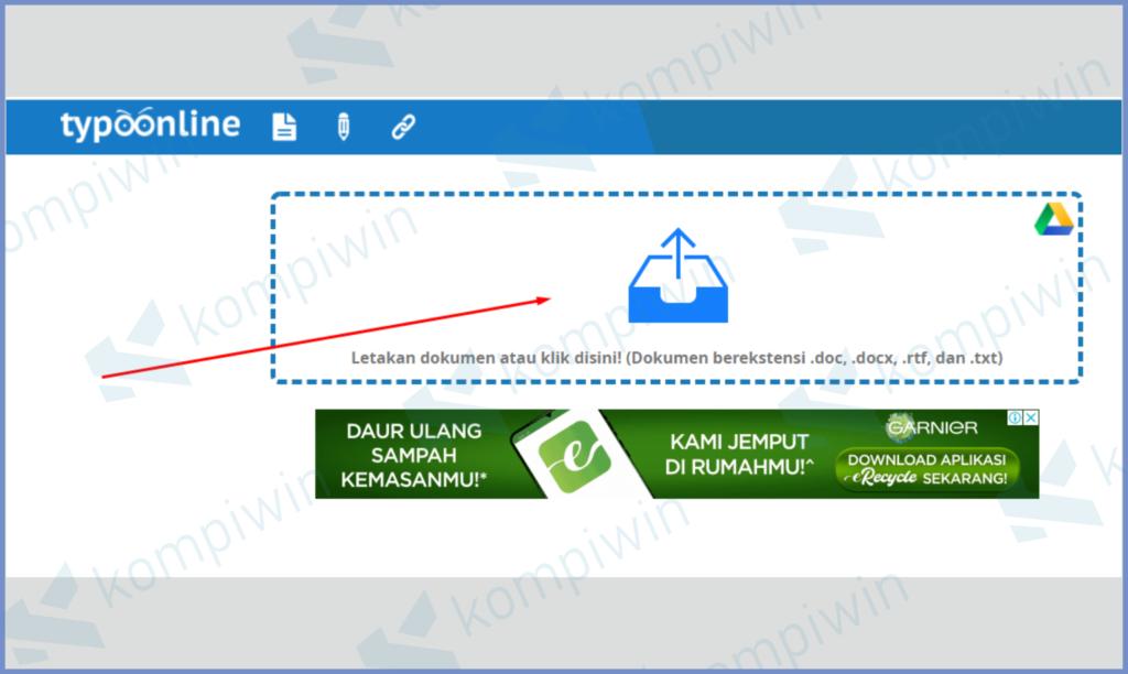 Unggah File Di Kotak Yang Sudah Tersedia