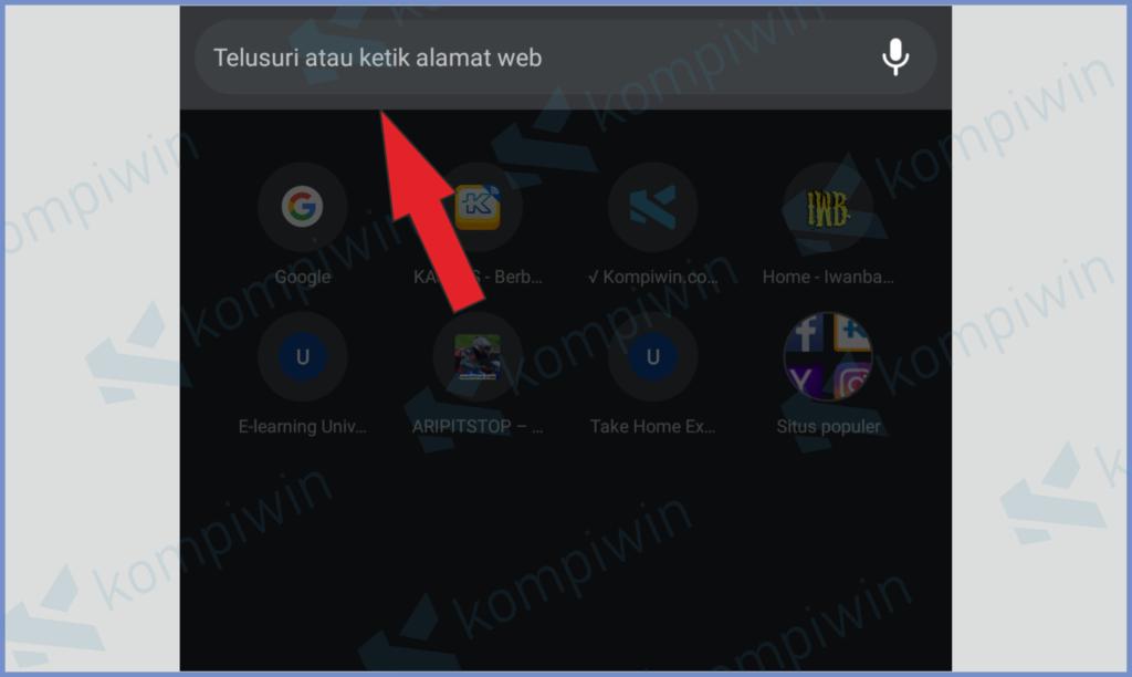 Buka Browser Kemudian Ketik Di Kotak Pencarian URL
