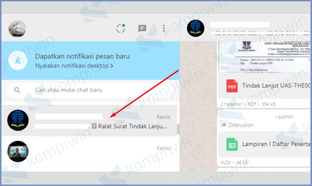 Buka Salah Satu Jendela Chat
