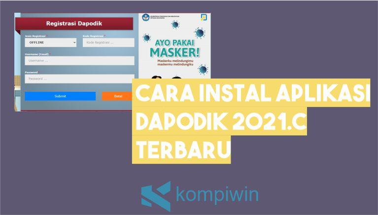 Cara Instal Dapodik 2021.c