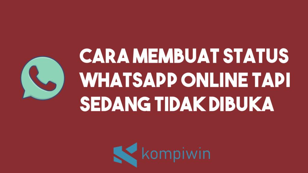Cara Membuat Status WhatsApp Online Tapi Sedang Tidak Dibuka 11