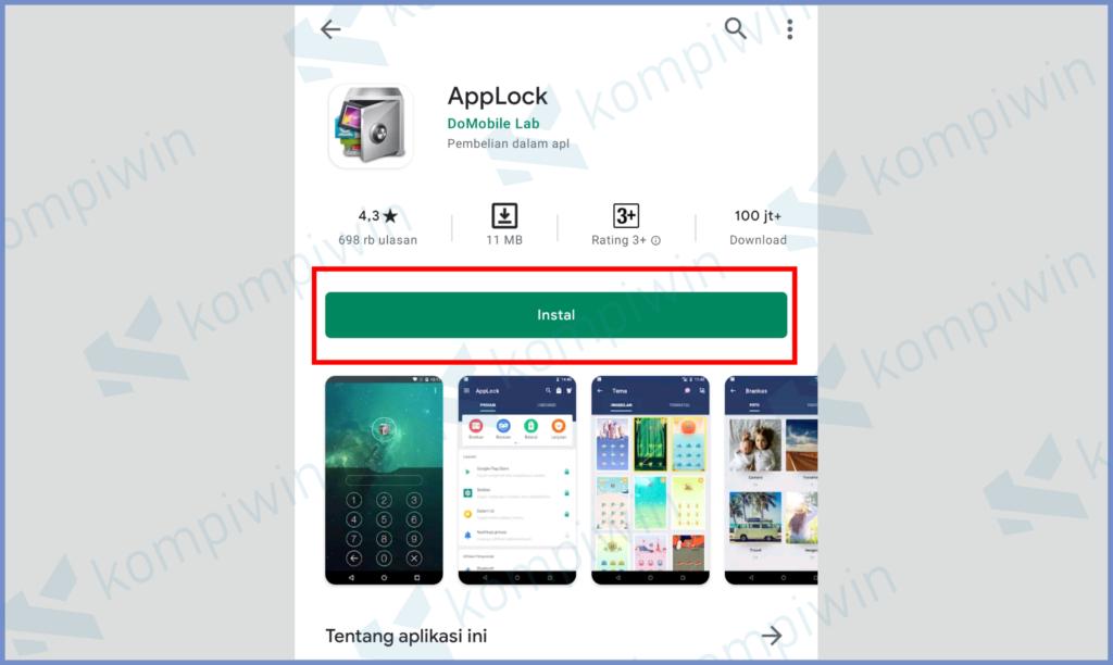Install Dan Pasang Aplikasi AppLock