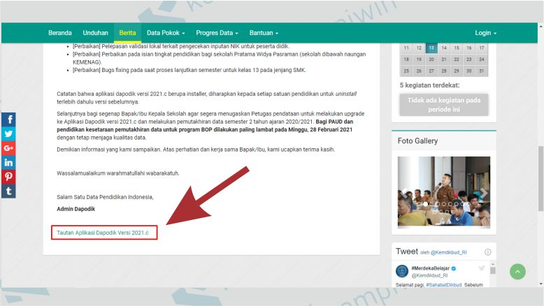 Link Download Aplikasi Dapodik 2021.c Terbaru