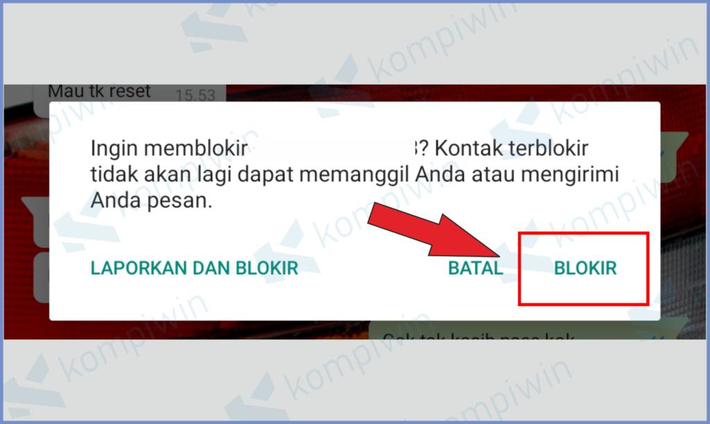 Pencet Blokir UntukTombol Konfirmasi