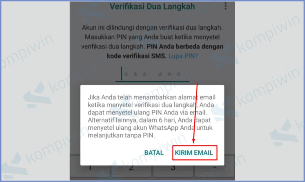 Pencet Kirim Email