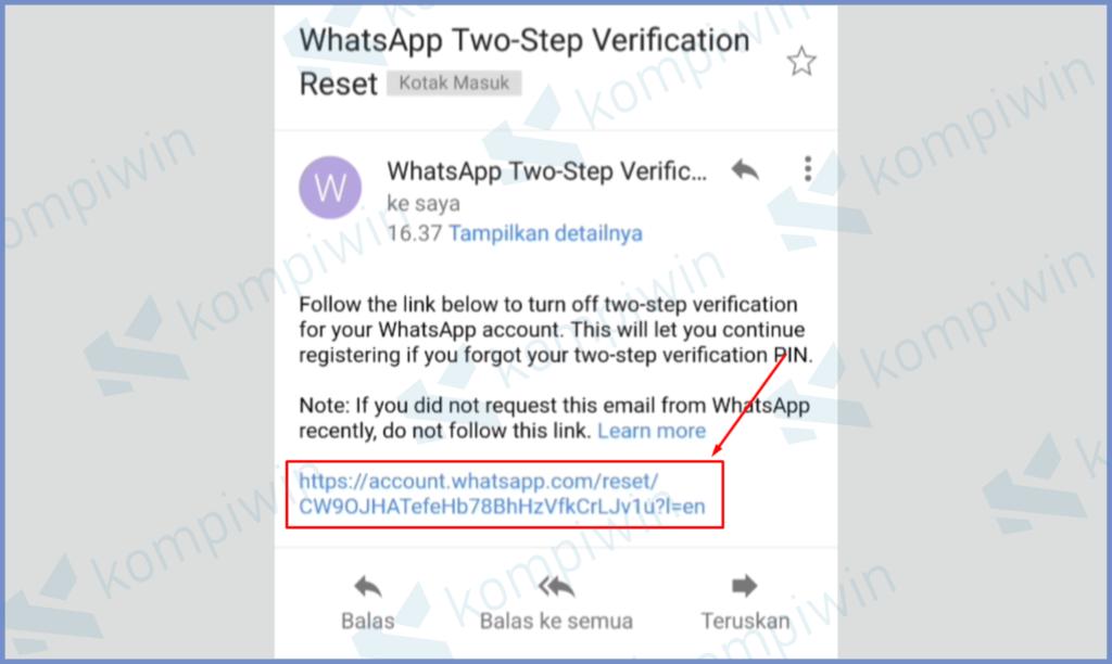 Tekan Link Yang Dikirimkan Email Kamu