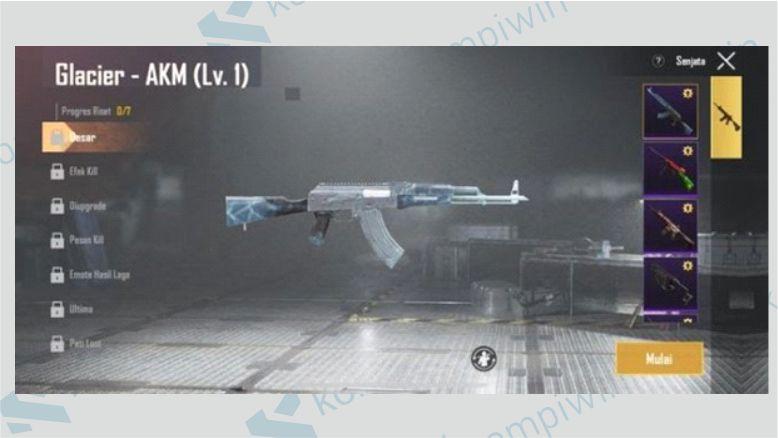 AKM Glacier - Skin Termahal di Game PUBG