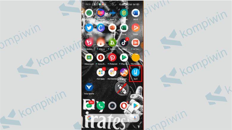Buka Aplikasi by.U - Cara Cek Nomor by.U Dengan Aplikasi
