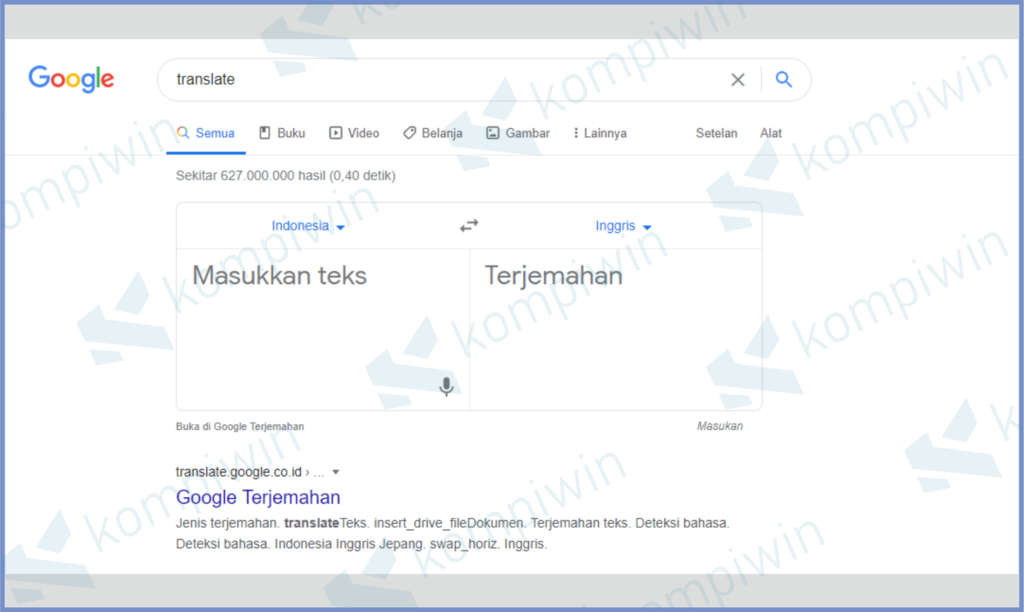 Buka Translate Di Google Chrome