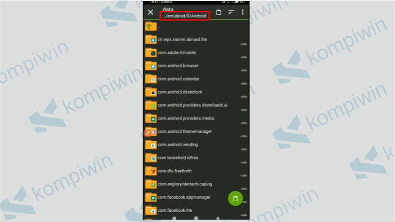 Cari Folder Tempat Android Data- Config Mentahan Tanduk Iblis Free Fire