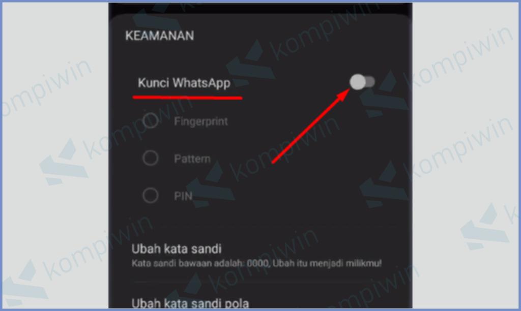 Fitur Pengunci Aplikasi Whatsapp