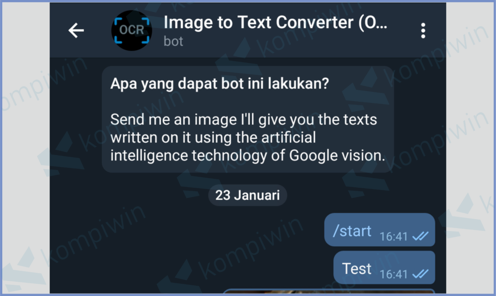 Image To Text Convert Bot