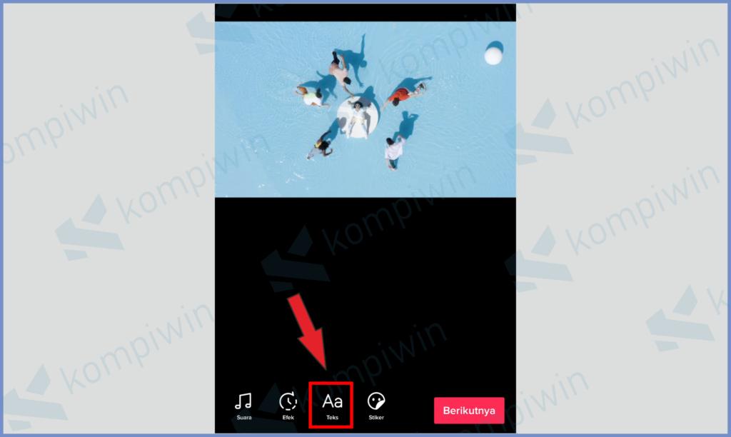 Ketuk Icon Teks Untuk Menambahkan