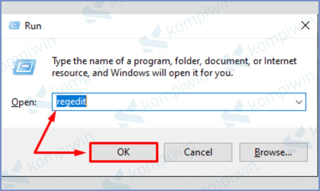Ketuk Windows R Lalu Masukkan Perintah Regedit