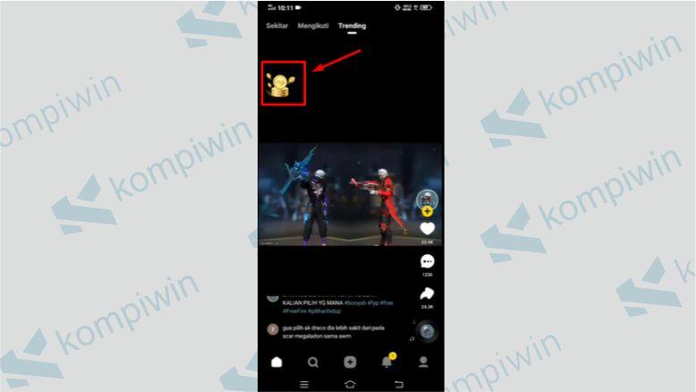 Klik Ikon RP Saat Menonton Video - Cara Mengundang Teman di Snack Video