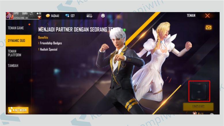 Klik Tanda + - Dynamic Duo FF