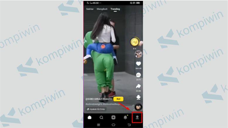 Masuk ke Profil Snack Video - Cara Live Streaming di Snack Video
