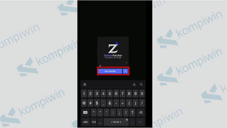 Masukkan Nickname dan Klik Get Started - Zolaxis Patcher