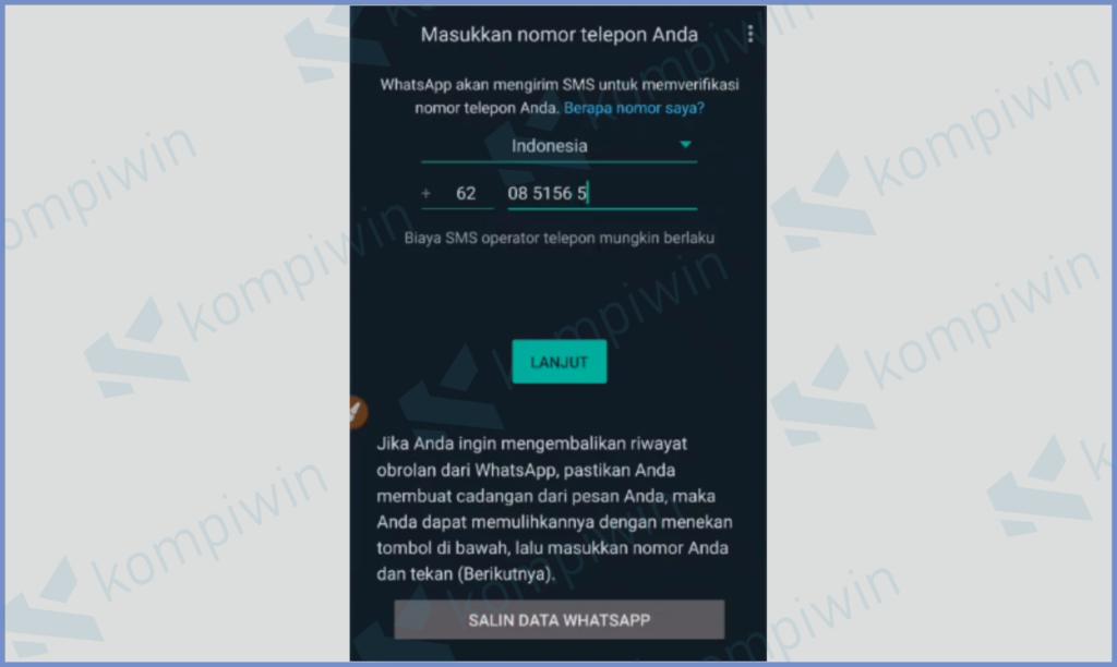 Metode Login Masih Sama Dengan Whatsapp Biasa