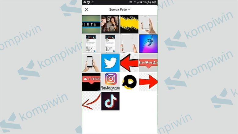 Pilih Gambar Untuk Thumbnail - Cara Live Streaming di Snack Video