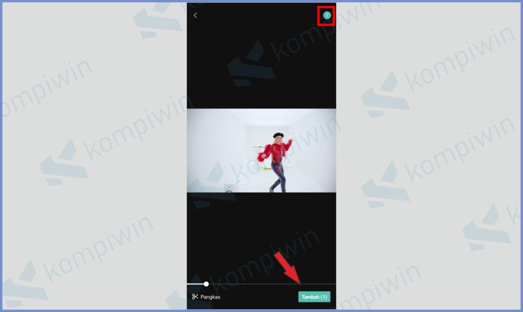 Seleksi Video Kemudian Tambah