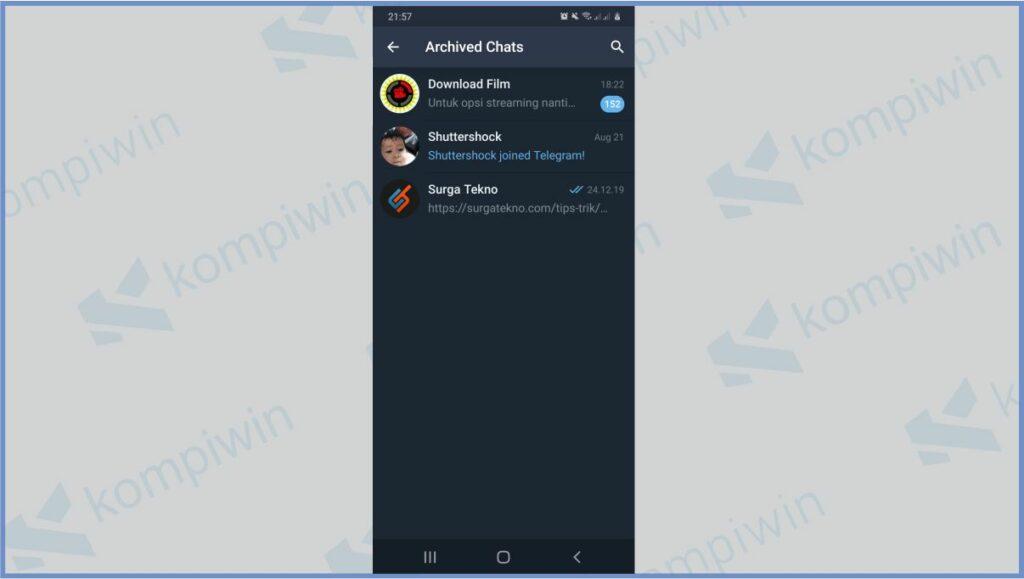Semua Archived Chats Muncul - Cara Membuka Arsip Telegram