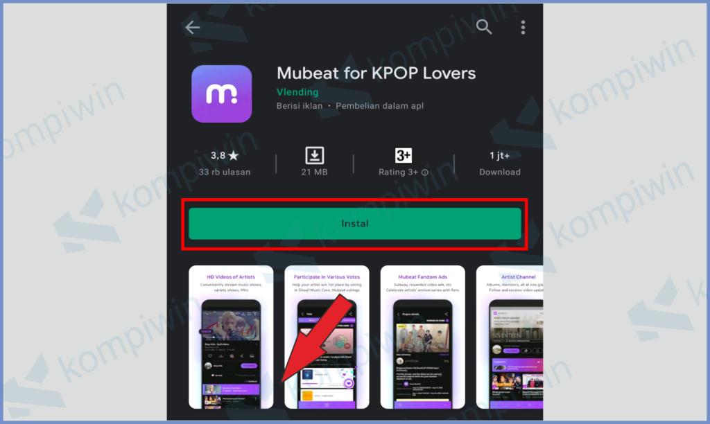 Silahkan Install Aplikasi Mubeat