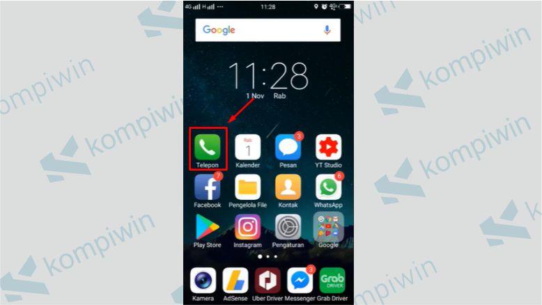 Tap Ikon Telepon - Cara Cek Nomor by.U Tanpa Aplikasi