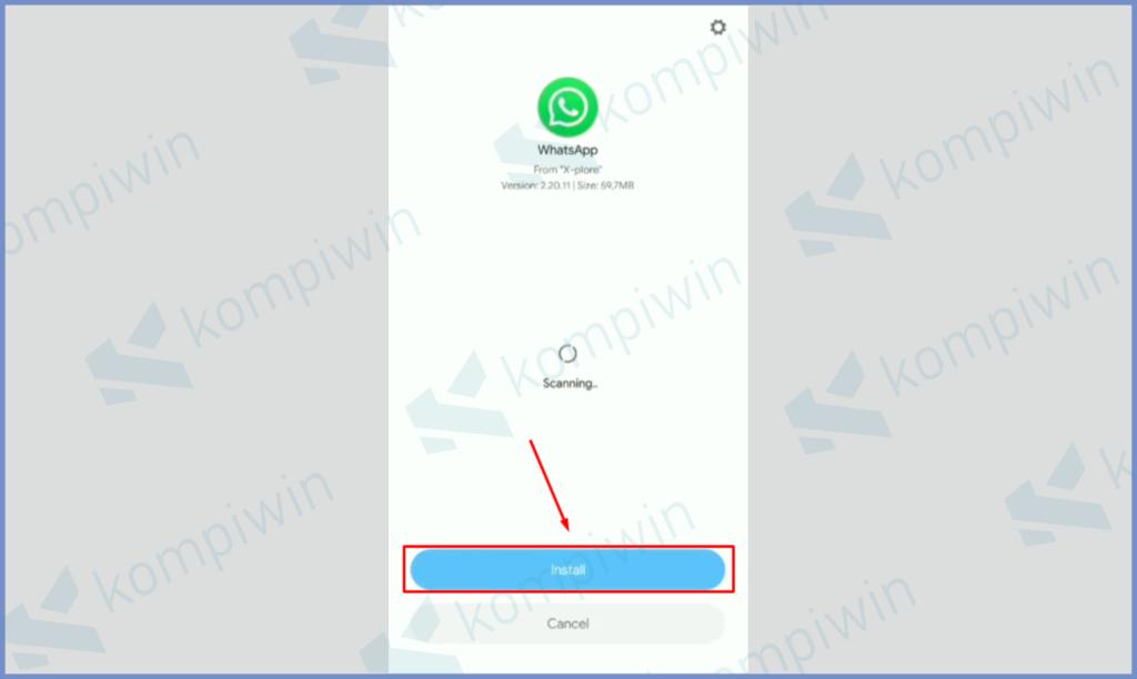 Tekan Aplikasi Kemudian Pencet Tombol Install