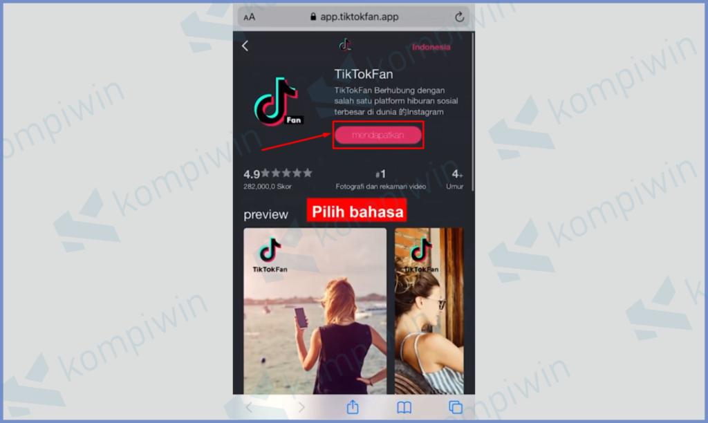 Download Aplikasi Tiktok Fan