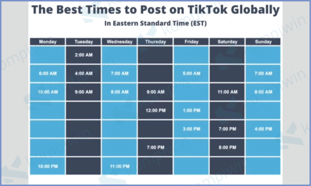 Jadwal Prime Time Tiktok Global