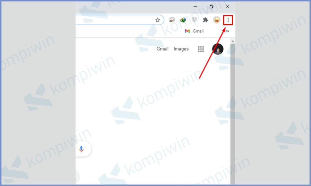 Ketuk Icon Settings Didalam Chrome
