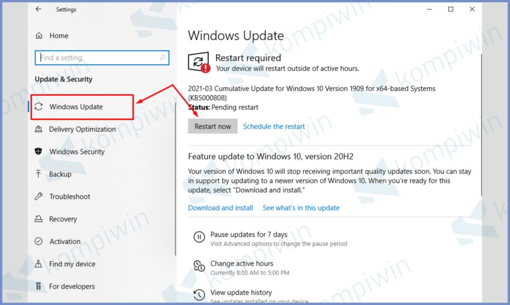 Masuk Ke Settings PC Dan Update OSnya