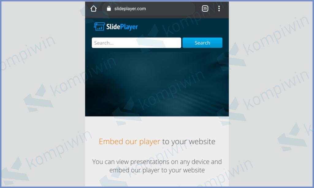 Masuk Ke Website Slideplayer