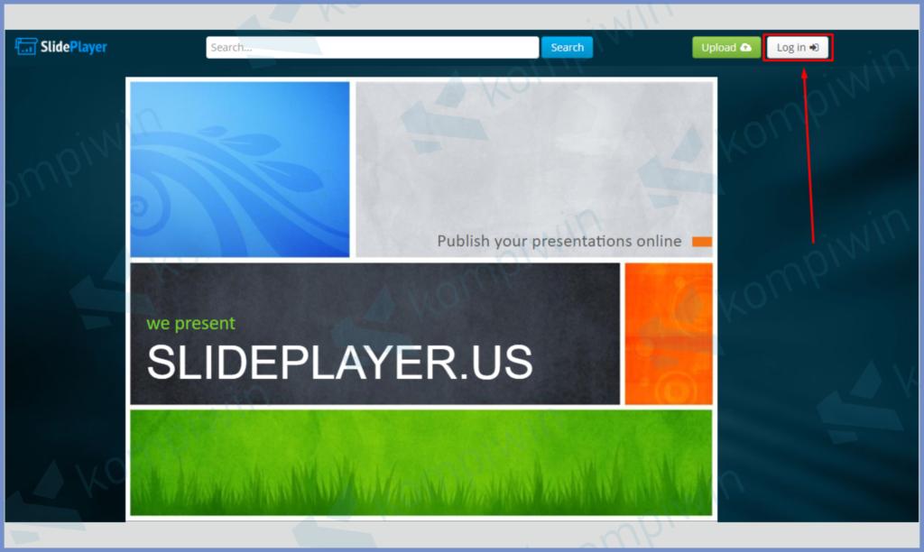 Masuk Ke Website Slideplayer Lalu Ketuk Login
