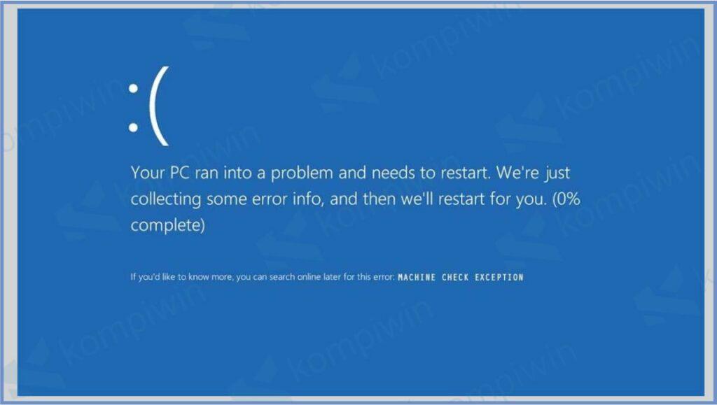 Muncul Error Machine_Check_Exception - Cara Mengatasi Error Machine_Check_Exception